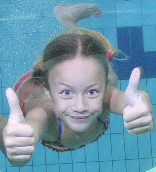 Child Underwater in Pool