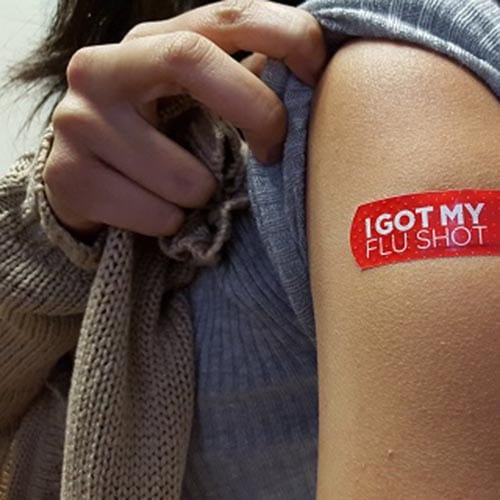 Flu Shot Band-Aid