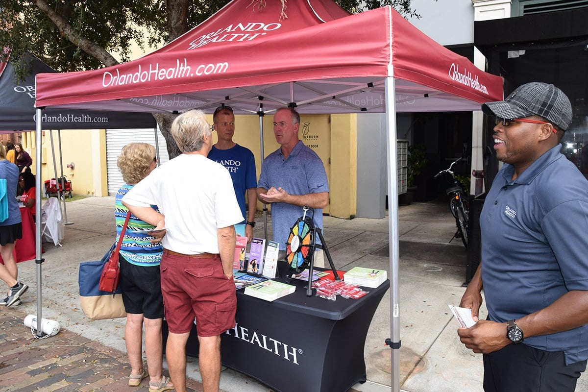 orlando health tent with people