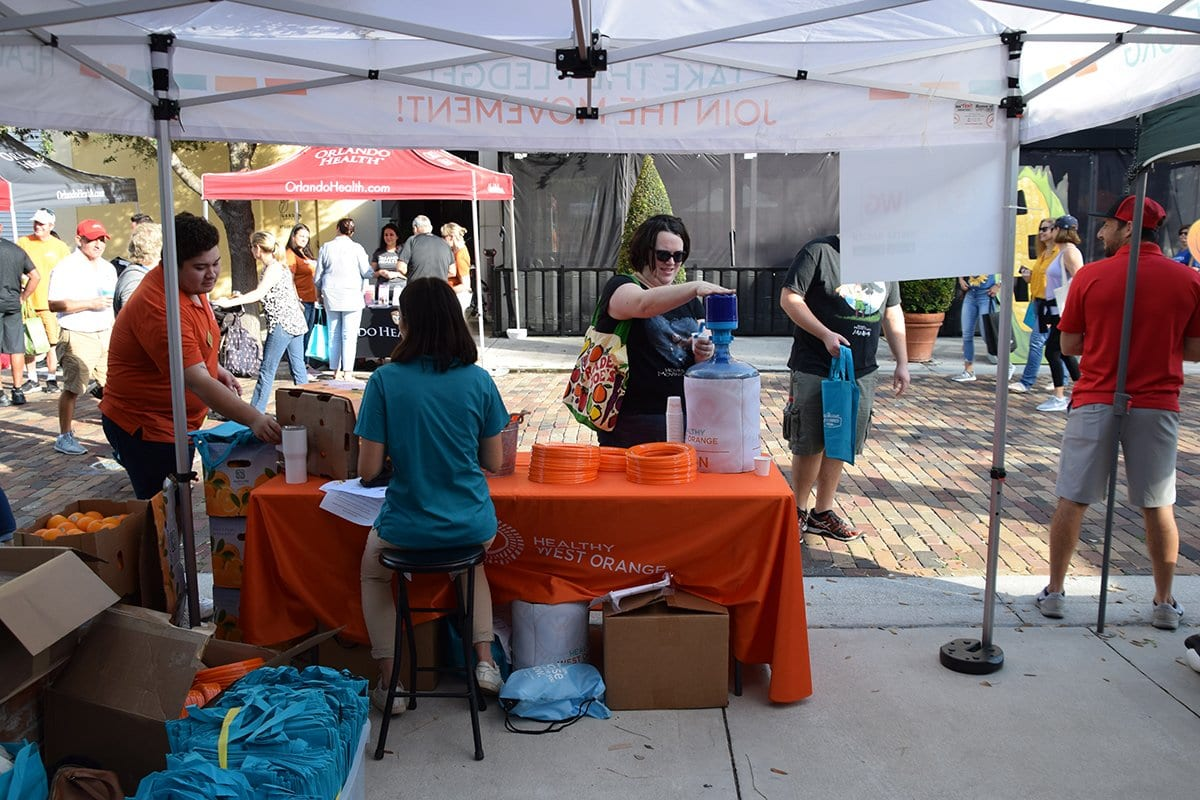 healthy west orange tent with people