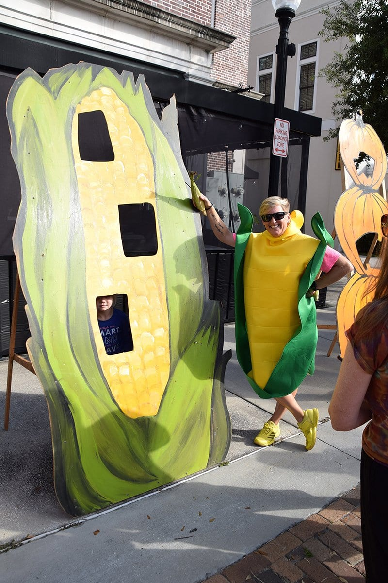 woman in corn costume