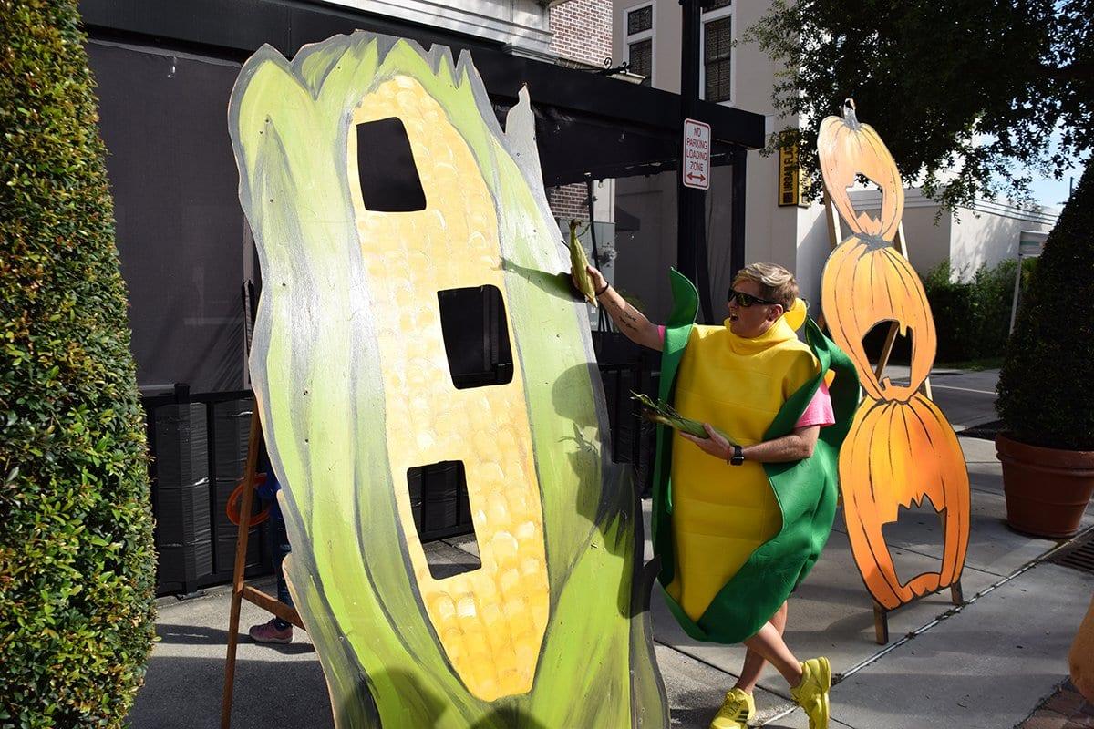 woman in corn costume