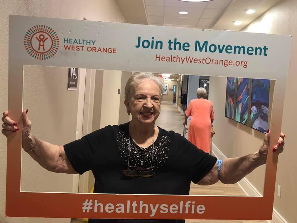 senior healthy selfie