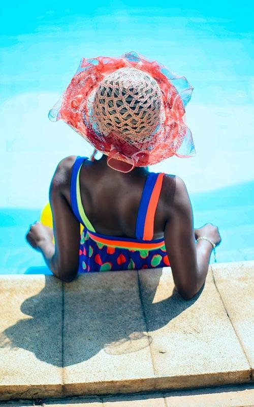 black woman pool