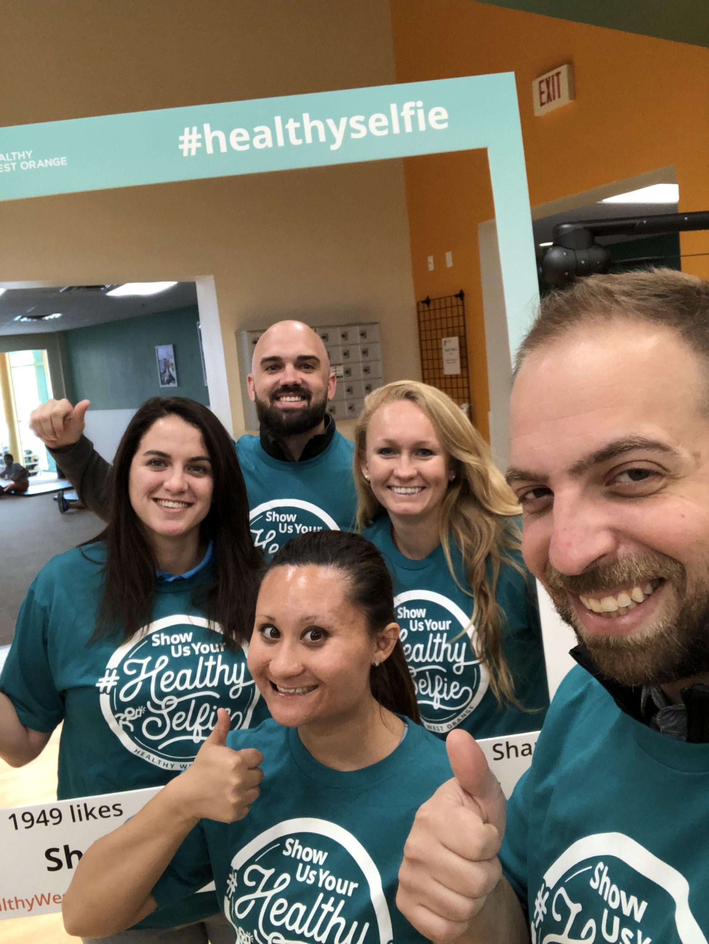 ymca team healthy selfie